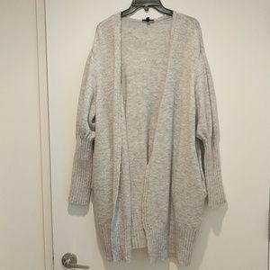 Topshop long grey cardigan, size 12